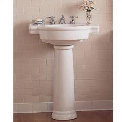 "Retrospect Collection 27"" White Pedestal Sink"