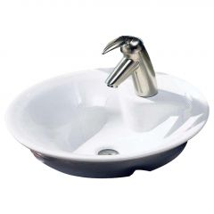 """Morning 17-3/4"""" White Above-Counter Sink"""