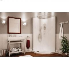 Pebble Begonia White 3-Piece Shower