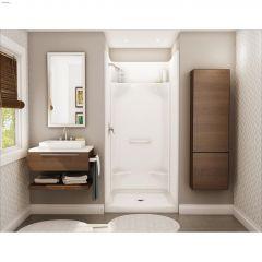 Essence SH-3636 White Fiberglass 4-Piece Alcove Shower