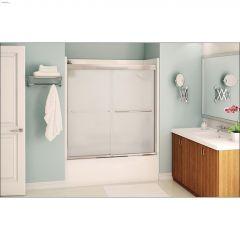 """51 - 55"""" x 57"""" Chrome Mistelite 2-Panel Sliding Tub Door"""