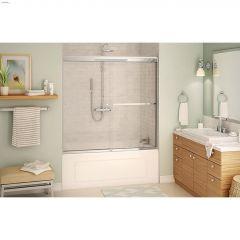 "55 - 59"" Chrome Clear Aura Sliding Shower Door"