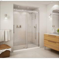 "56-1/2 - 59"" x 78-3/4"" Chrome Clear Sliding Shower Door"