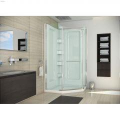 "72"" Silver Clear Pivot Shower Door"