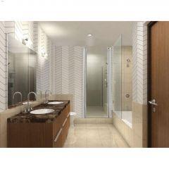 """69"""" Silver Raindrop Swing Shower Door"""