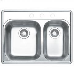 """Essential 27"""" x 21"""" Satin Brushed Kitchen Sink"""