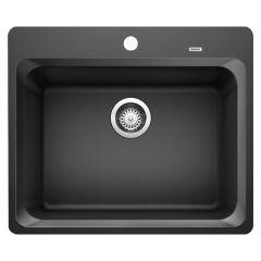 """Silgranit Vision 1 25"""" x 20-3/4"""" Anthracite Kitchen Sink"""