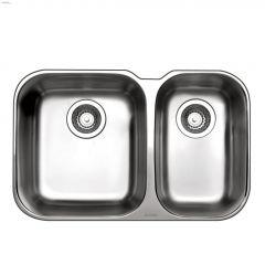 """Essential U 26-1/2"""" x 17-3/8"""" Brushed Satin Kitchen Sink"""