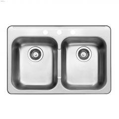 "Horizon 31-1/2"" x 20-1/2"" x 7"" Double Bowl Kitchen Sink"