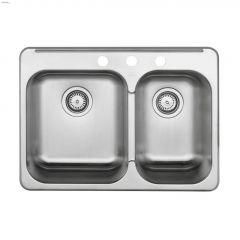 """Horizon 28"""" x 20-1/2"""" Satin Brushed Kitchen Sink"""