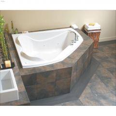 Cocoon 6054 Off-Centre White Microjet Corner Bathtub