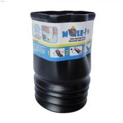"2"" x 3"" Black Twist & Seal Downspout Adapter"