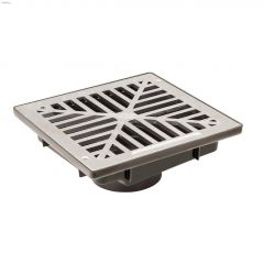 "12"" x 12"" Vortex Catch Basin With Flat Aluminum Grate"