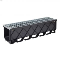 "40"" Plastic Storm Masta Channel With Galvanized Steel Grate"