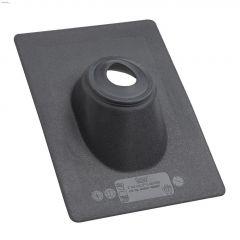 "14"" x 16"" Thermoplastic Black 3"" Hole Roof Flashing"