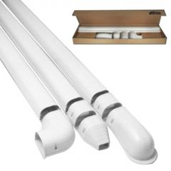 "4-1/2"" x 12' White Wall Duct Kit"