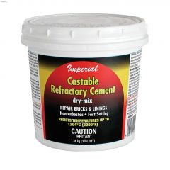 3 lb Tub Tan to Grey Dry Mix Castable Refractory Cement