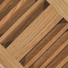 """10"""" x 4"""" Light Oak Louvered Design Floor Register"""