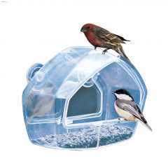 Perky-Pet Birdscapes 1 Cup Crystal Clear Window Feeder