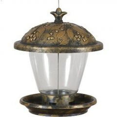 Perky-Pet 2 lb Holly Berry Gilded Chalet Feeder