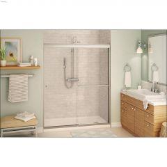 """55 - 59\"""" Clear Sliding Shower Door"""