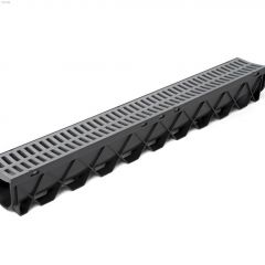 3 m Plastic Storm Drain Channel With Grate