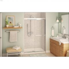 "55 - 59\"" x 71\"" x 8 mm Clear Aura Sliding Shower Door"