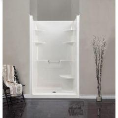 "48\"" x 37\"" x 80\"" 1-Piece Seat Shower Stall"