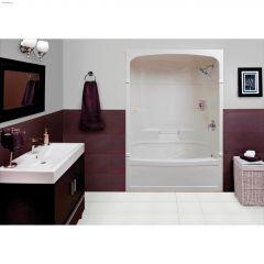Empire White 3-Piece Left Hand Tub Shower