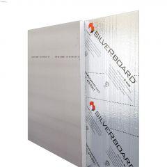 """SilveRboard 8' x 4' x 1-1/2"""" Faced Rigid Sheet R7.5"""