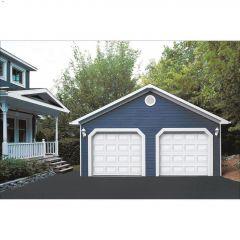 9' x 7' Ice White Dualforce Weatherstripping Garage Door