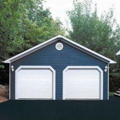 16' x 7' Ice White Dualforce Garage Door
