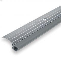 """36"""" x 1-3/8"""" Aluminum & Vinyl Grey Bumper Door Threshold"""
