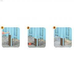 """16"""" Steel Khaki Post Repair Kit"""