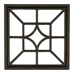 "15"" Black Cast Aluminum Square/Diamond Fence & Gate Insert"