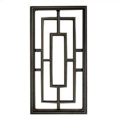 "9 x 17\"" Black Cast Aluminum Rectangle\u00a0Fence & Gate Insert"