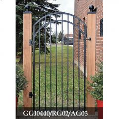 "33"" x 68"" Ornamental Iron Gate"