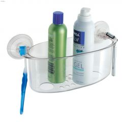 Power Lock Clear Suction Shower Basket