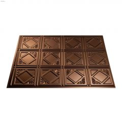 "24"" x 18"" Oil Rubbed Bronze Traditional 4 Backsplash Panel"