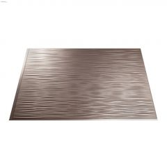 "24"" x 18"" Brushed Nickel Ripple Backsplash Panel"