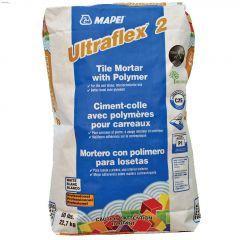 Ultraflex2 22.7 kg Bag Grey Tile Mortar With Polymer