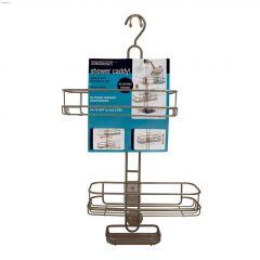 Linea Silver Adjustable Shower Caddy