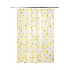 """72"""" x 72"""" Yellow PEVA Kid's Shower Curtain"""