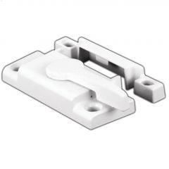 "2-1/8"" White Cam-Action Window Sash Lock"