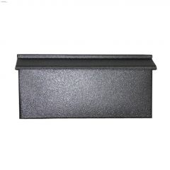 "15-1/2"" x 7-1/2"" x 2-3/4"" Black Granite Wall Mailbox"