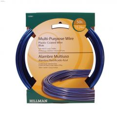 19 Gauge x 50' Blue Plastic Coated Stranded Wire