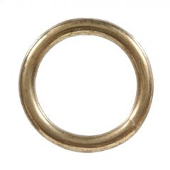 "7/16"" x 3-1/2"" Zinc Plated Lag Hitching Ring"