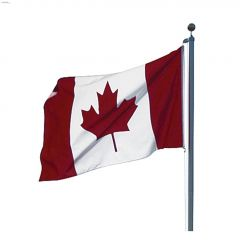 """5"""" x 10"""" DuraKnit III Canadian Car Antenna Flag"""
