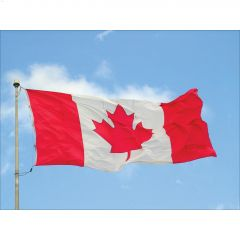 """36"""" x 72"""" Polyester Heavy Duty Canadian National Flag"""