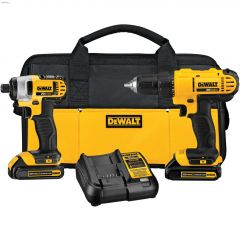 """20V 1"""" 2-Tool Combo Kit With 2 Batteries"""